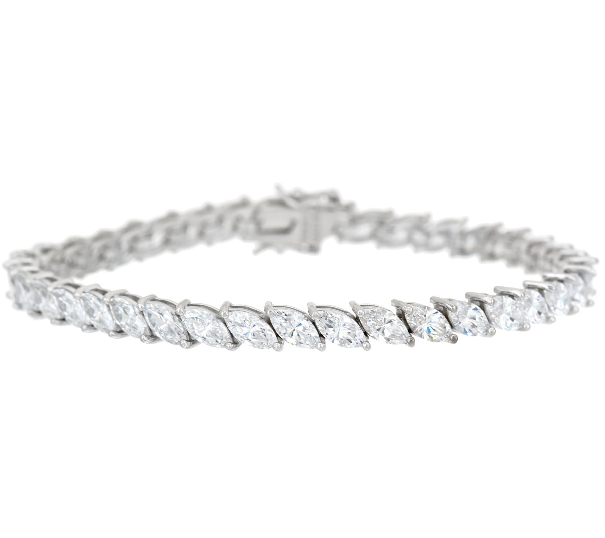 Smjewels Marquise Cut D/VVS1 Diamond Tennis Bracelet In 14K White Gold Plated Sterling by Smjewels