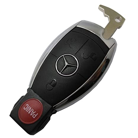 Horande 4 Button Replacement Keyless Entry Remote Control Key Fob Cover Fit  Mercedes Benz W203 W210 W211 AMG W204 CES CLS CLK CLA SLK Classe Key Fob
