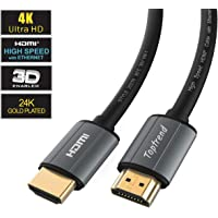 4K HDMI Cable 1.83m(6ft)-HDMI 2.0 Cable 1080p, 3D, 2160p, 4K UHD, HDR, Ethernet and Audio Return(ARC)-CL3 for in-wall installation-28AWG HDMI Cord for HDTV, Xbox, Blue-ray player, PS3, PS4, PC, Apple TV