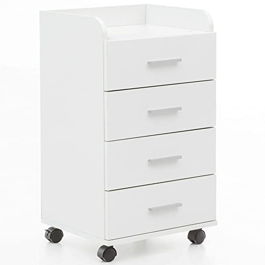 Cassettiera Da Scrivania Con Ruote.Ks Furniture Wl5 748 Cassettiera Da Scrivania Con Rotelle 40 X