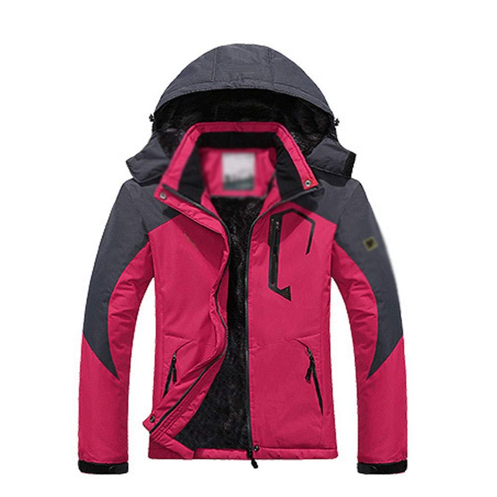 SHR-GCHAO Winter Outdoor-Jacke Berg Bekleidung Warm windundurchlässiger wasserdichter Baumwollmantel Großer REIT Ski,Rot,5XL