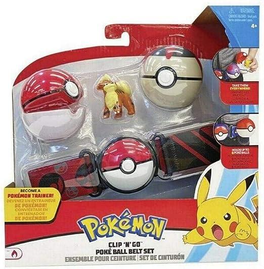 WCT Ceinture de Balle Pokemon Clip 'n' Go avec Fig...