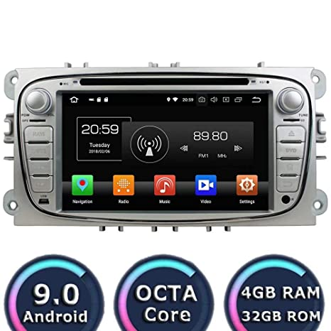 Amazon.com: ROADYAKO Android 9.0 Car Stereo for Ford Focus ...
