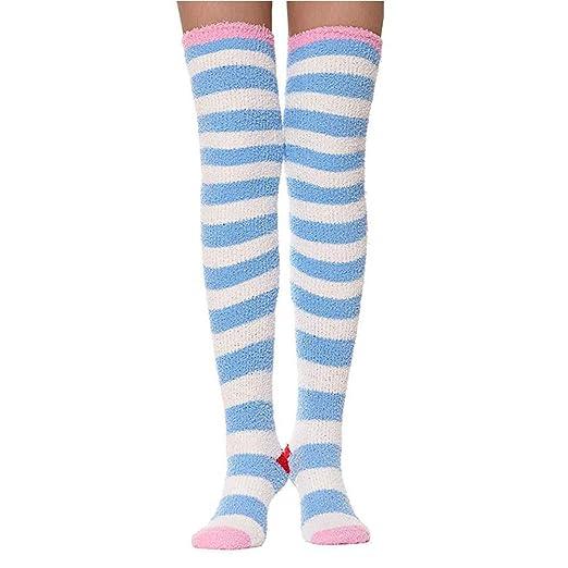 Amazon Com Keylleen Over Knee High Stockings Girls Warm Cozy Winter