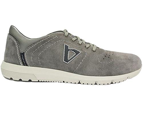 low priced 232af 8d661 VALLEVERDE Scarpe Uomo Sneakers in camoscio Grigio 17881 ...