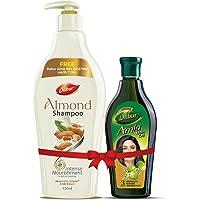 Dabur Almond Shampoo, 350ml with Free Amla Hair Oil, 275ml