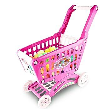 0e451429c5d1ce IAMGlobal ショッピングカート おもちゃ キッズ 買い物カート おもちゃの買い物カート 子供用スーパーマーケットカート ごっこ
