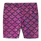 City Threads Girls Underwear Novelty Bike Shorts For Play School Uniform Dance Class and Under Dresses, Mermaid Fuschia, 8