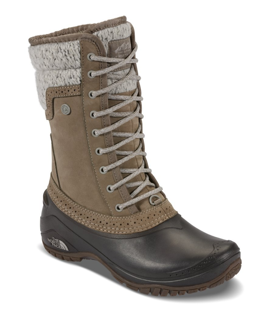 The North Face Womens Shellista II Mid Boot - Split Rock Brown/Dove Grey - 8.5
