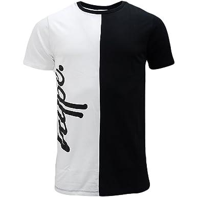 5958c78827c HYPE White Black Half White Half Black Split T-Shirt - Two Tone XXS   Amazon.co.uk  Clothing