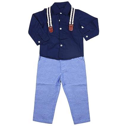 Gugutogo Blusa de manga larga de los niños hermosos del bebé de los niños de moda