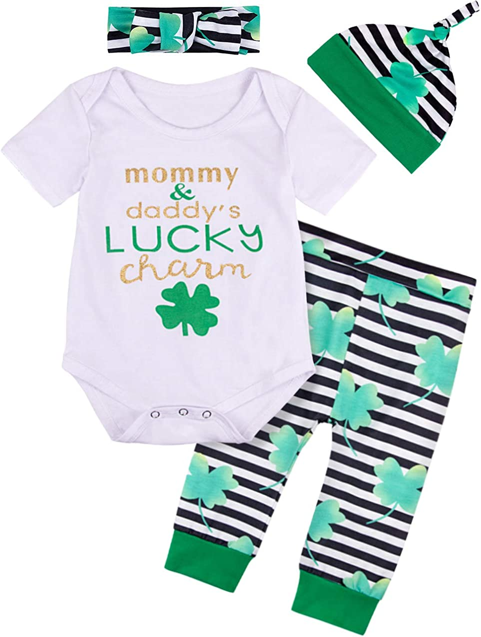 MOMBEBE COSLAND Baby Boys St Patricks Day Outfits Bodysuit Costumes
