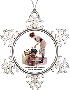 Moc Moc Tree Branch Decoration She Who Plants A Garden Plants Happiness Photo Christmas Snowflake Ornaments Vintage Snowflake Ornaments