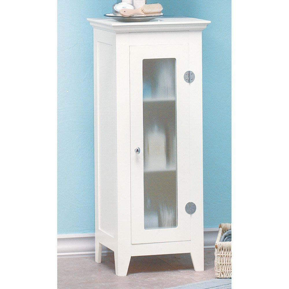Storage Cabinet, White Wooden Modern Organizers Bathroom Storage Cabinet