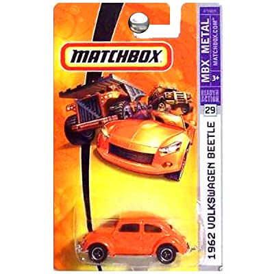 Matchbox 2007 1:64 Scale Orange 1962 Volkswagen Beetle Die Cast Car #29: Toys & Games