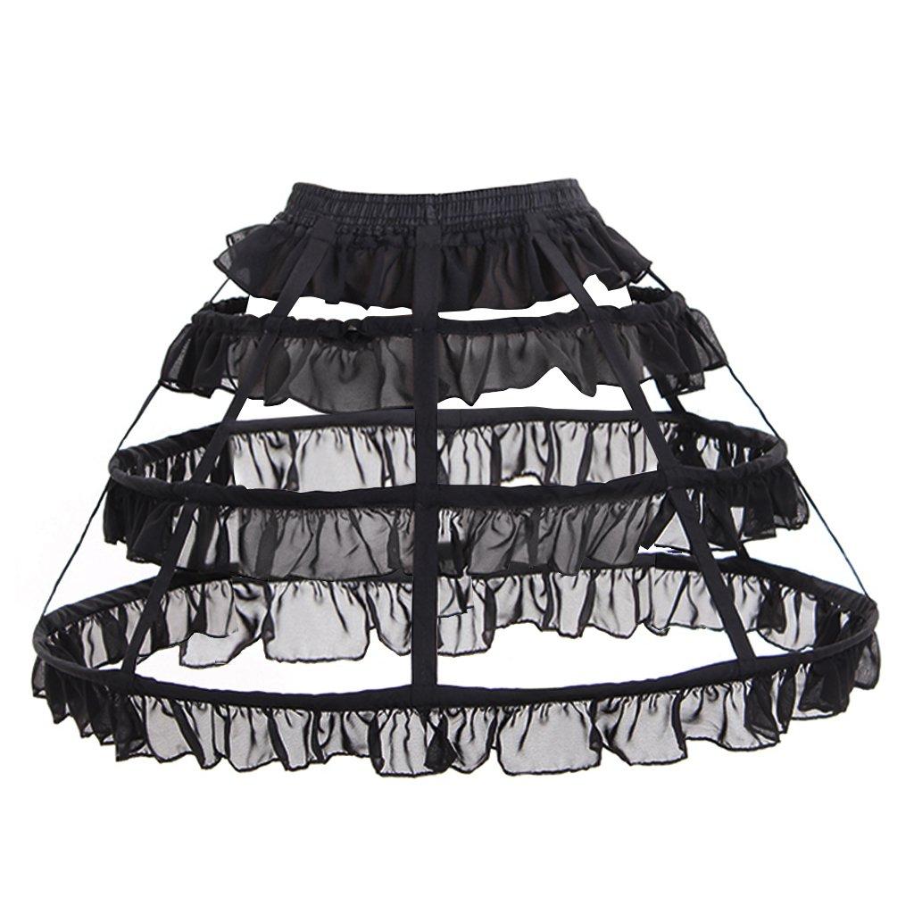 CosplayDiy Women's Prom Dress Petticoat Crinoline One Size Black