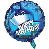 Creative Converting Shark Splash Metallic Balloon, 18-Inch (45887)