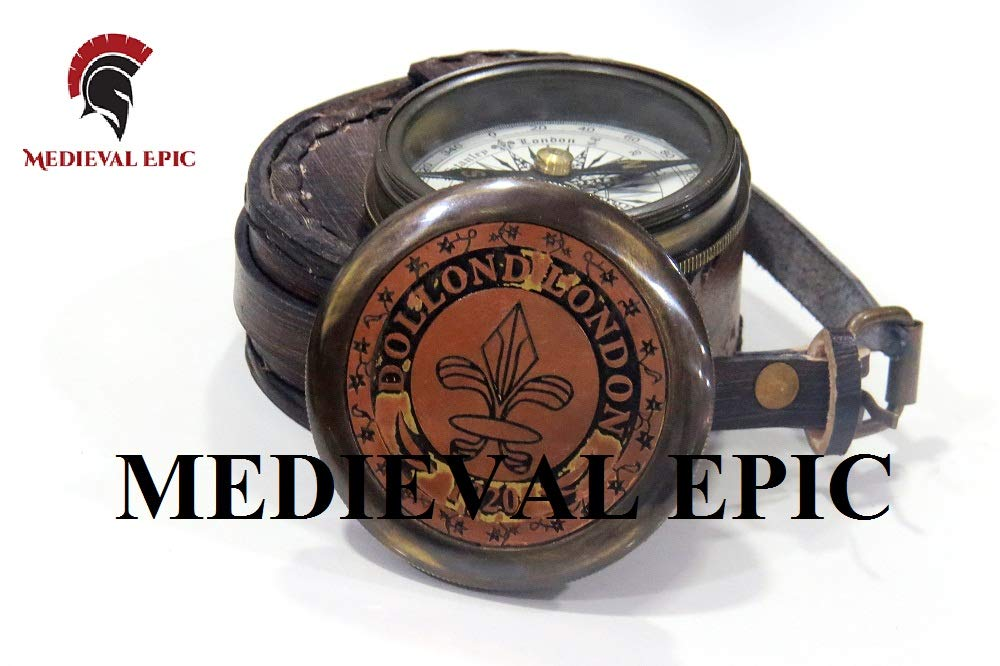 Regalo de San Valent/ín Br/újula de Cobre Estilo Antiguo Medieval