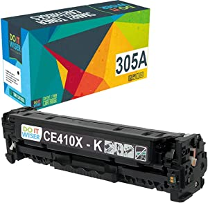 Do it Wiser Remanufactured Toner Cartridge Replacement for HP 305A 305X CE410A CE410X for use in HP Laserjet Pro M451nw,M451dn, M451dw, MFP M475dn, MFP M475dw, M375nw (Black)