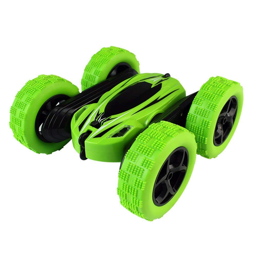 Generic 360 redate DoubleFaced Stunt Car RC 4WD Remote Control OffRoad Model Kids Toy Gifts @ZJF Green
