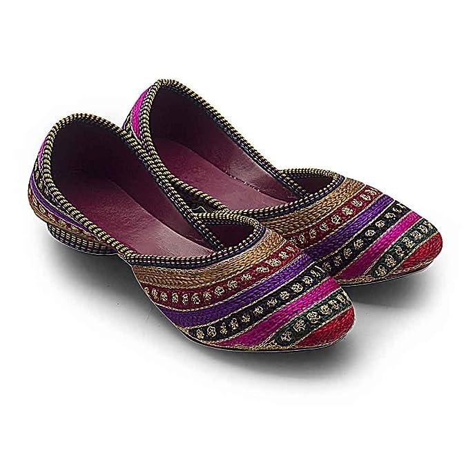 Ethnic Arts Women WMO307 Synthetic Mojaris Women's Ethnic Footwear at amazon