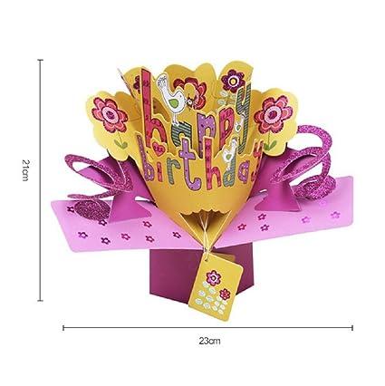 Tarjeta de regalo cumpleaños, 3d Pop Up Tarjetas de ...