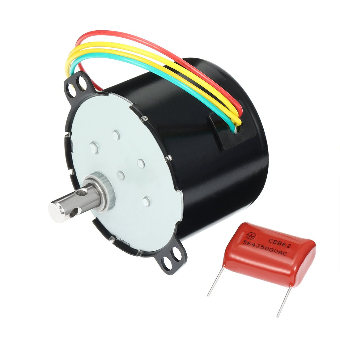 uxcell Synchronous Motor AC 110V 60Hz 6W 4/4.8RPM Output Speed Reduction Geared Box