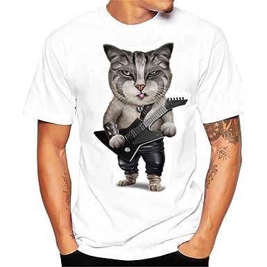 Blanca Estampada Para Camisa Hombre Camiseta Ohq qI8vOwx