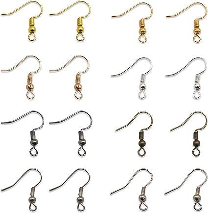 100 Supports Crochets boucle d/'oreille couleur plaqué argent