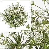 """FOUR 20"""" Artificial Queen Ann's Lace Flower Bushes"""