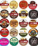 20 Cup NEW! Delicious DESSERT Inspired Flavored Coffee Sampler! Chocolate Fudge Cake, Peanut Butter Banana Cream Pie, Cinnamon Roll ++ YUMMY! 20 UNIQUE Flavors!