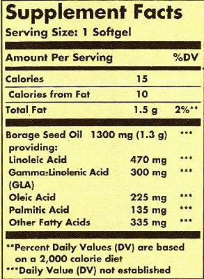 Solgar Super GLA Supplement, 300 mg, 60 Count