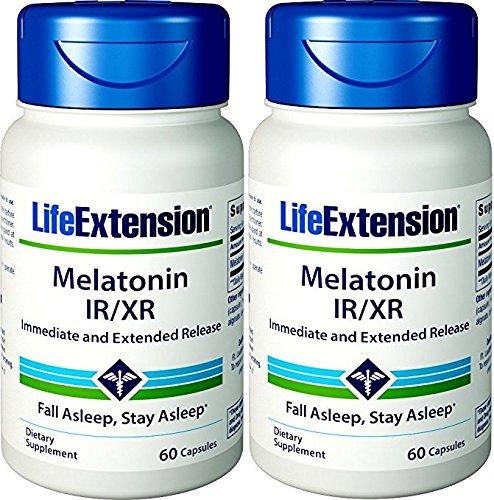 Life Extension Melatonin Lr/xr, 60 Count 2 Pack