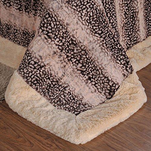 BDUK Ultra-Soft Raschel Decke Bettwäsche dunkel schmutzig mit Decken Decken