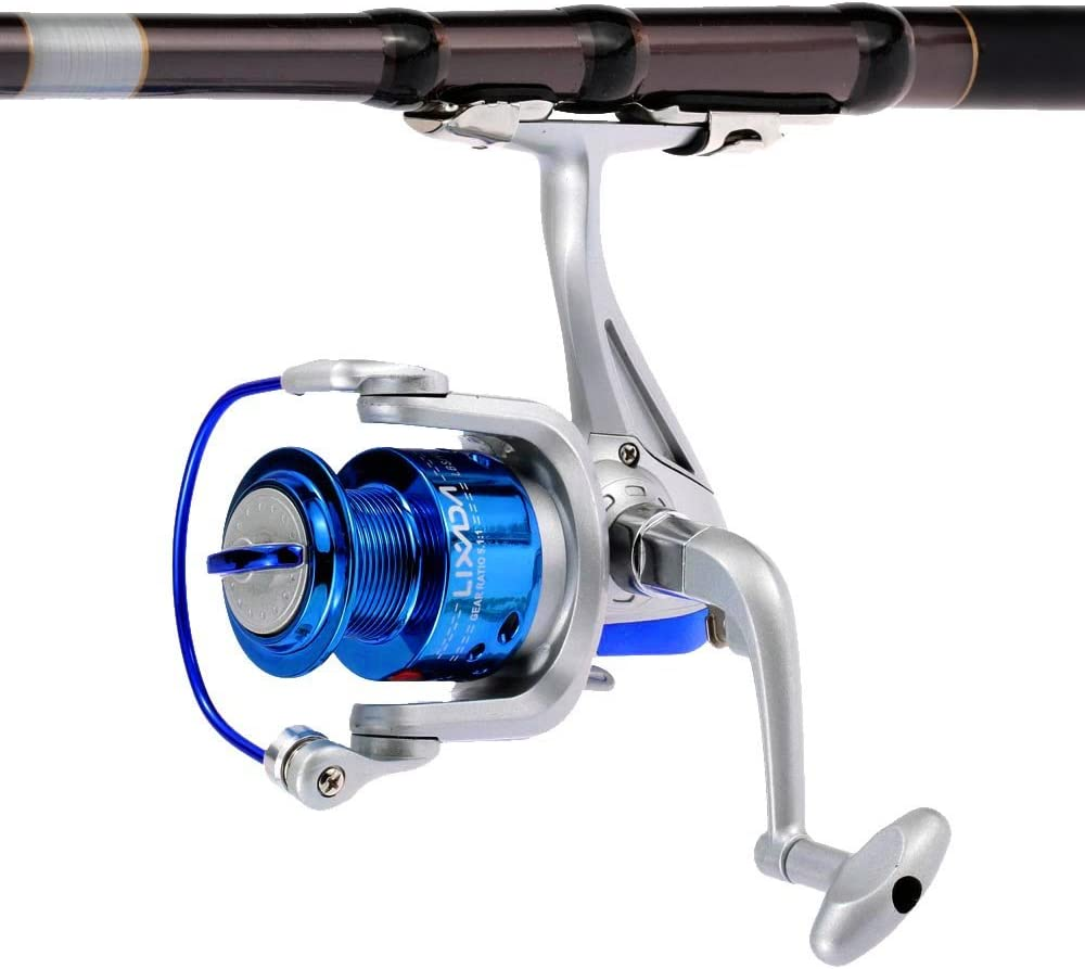 Lixada Carrete de Pesca Spinning 8BB Rodamientos de Bolas ...