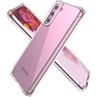 Samsung S21 - Shockproof Bumper Cover, Anti Scratch Crystal Clear Soft TPU Sim Case (Clear)