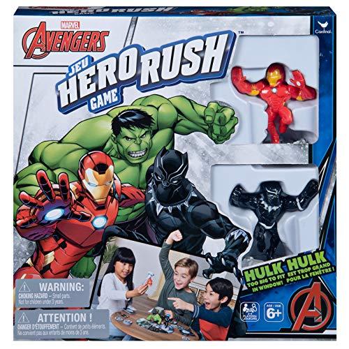 Cardinal Games Marvel's Avengers Hero Rush Board Game, Multicolor, 6051278 (Kids Superhero Games For Board)