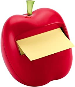 Post-it Pop-up Notes Dispenser for 3 in x 3 in Notes, Apple Shaped Dispenser, Includes 1 Canary Yellow Note (APL-330)