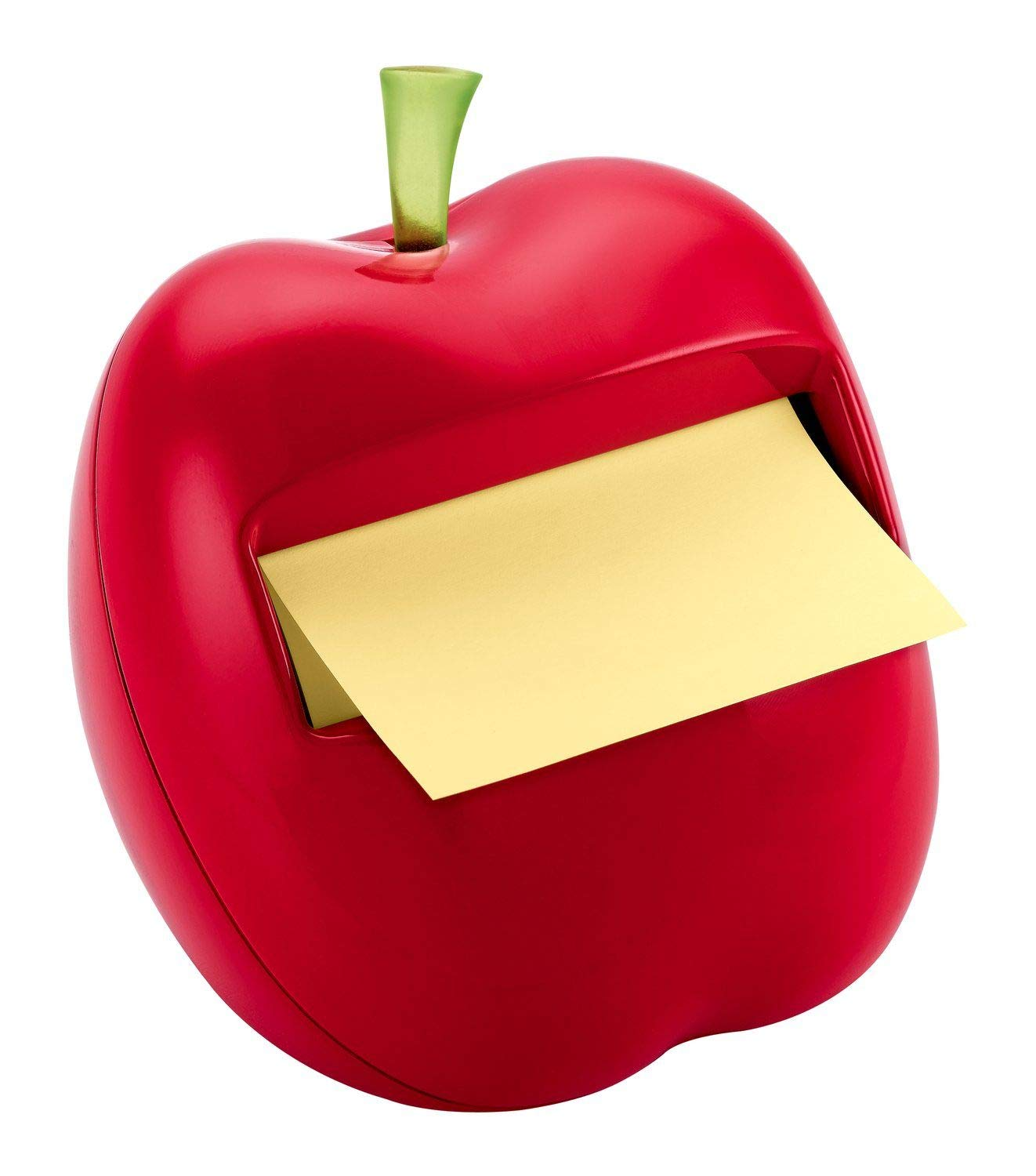 Post-it Pop-up Notes Dispenser for 3 in x 3 in Notes, Apple Shaped Dispenser, Includes 1 Canary Yellow Note (APL-330) by Post-it