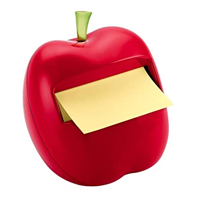 Apple post-it dispenser