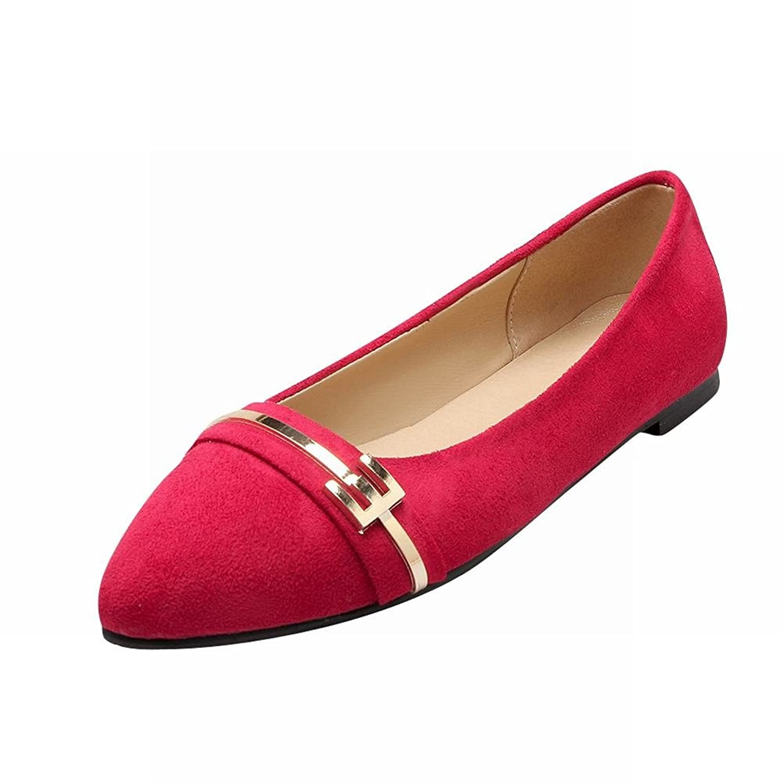 Show Shine Women's Fashion No Heel Loafer Flats Shoes