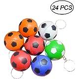Portachiavi Pallone Da Calcio Confezione Da 8 In Legno Da Colorare