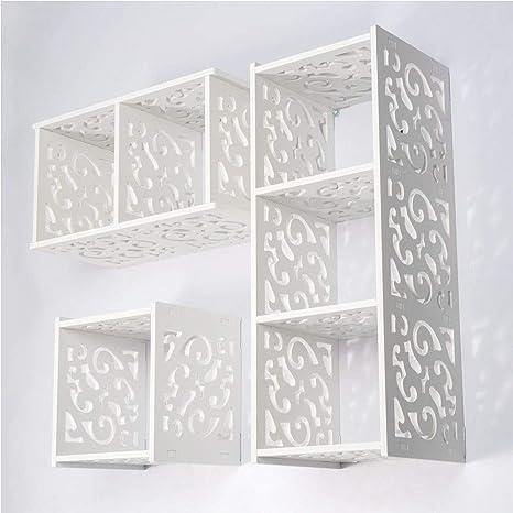 Vesgantti 3 Cube étagère De Rangement Mural Meuble Wpc En Bois