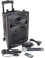 Ibiza PORT8VHF-BT - Sistema de sonido portátil y autónomo, 400 W, color negro
