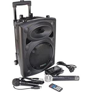 Altavoz trolley Ibiza Sound PORT8VHF-BT portátil y autónomo, 20 cm, Bluetooth, Wireless, 400 W