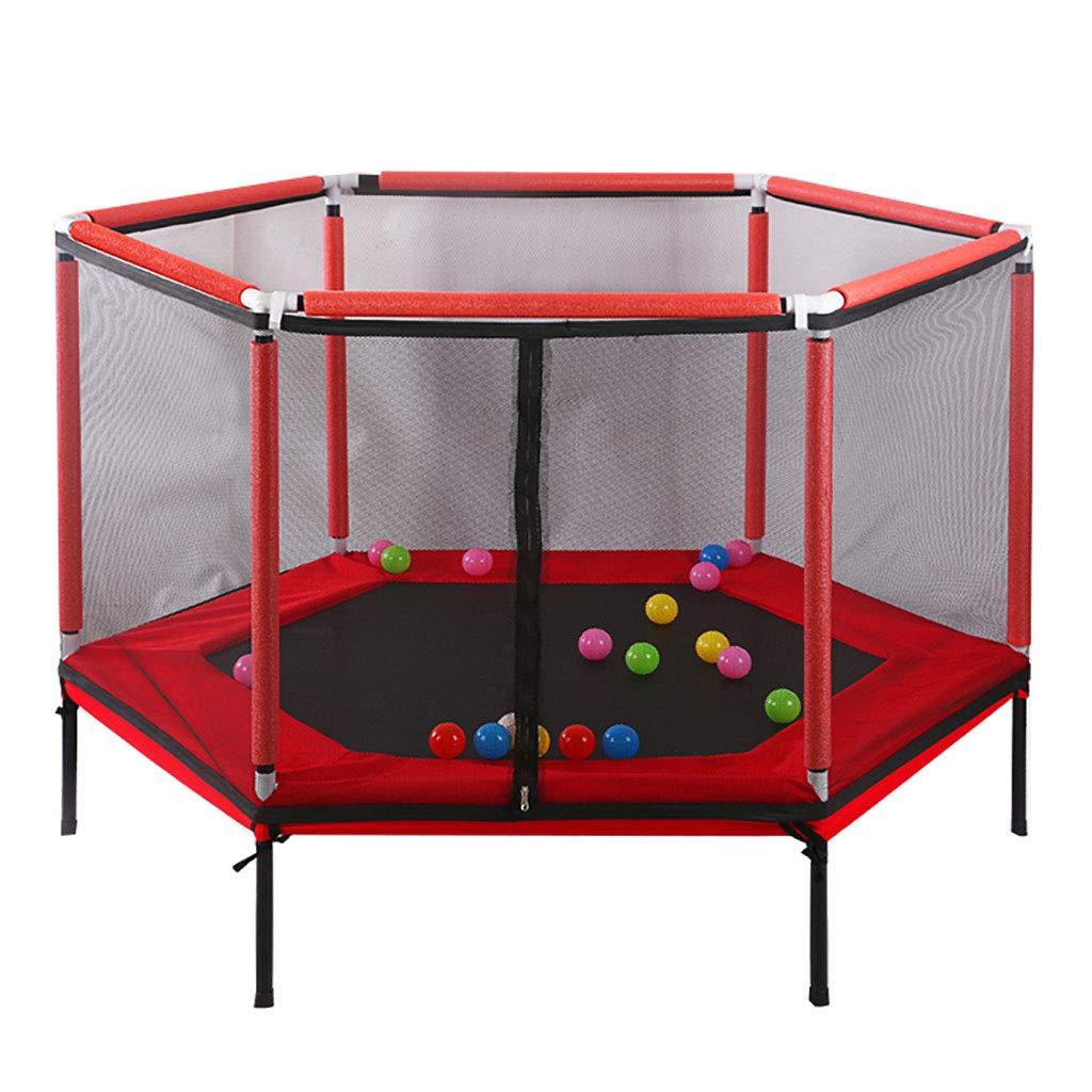 セーフティネット付きトランポリン - 子供の誕生日プレゼントのおもちゃ - ヘビーグレード - フレームとスプリングに350ポンドの跳躍容量  Red B07S4H2G6C
