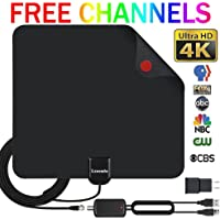 HDTV Antenna Indoor Digital TV Antenna, Lxuemlu 50 Miles Rang HD Antenna with Detachable Amplifier Signal Booster and 13FT Coaxial Cable - Extremely High Reception