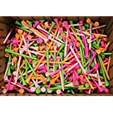 """500 - 3 1/4"""" One-Piece Seamless Golf Tees by JP Lann (various colors)"""
