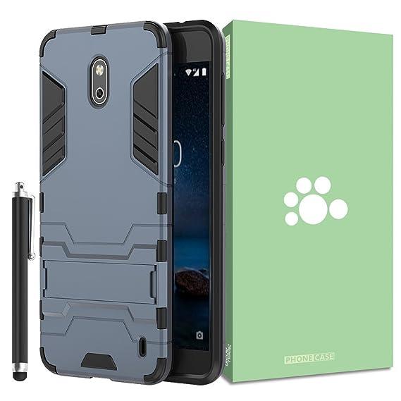 sale retailer 02546 38519 Amazon.com: Nokia 2 N2 Case [Built-in Kickstand] [Shock Absorbing ...