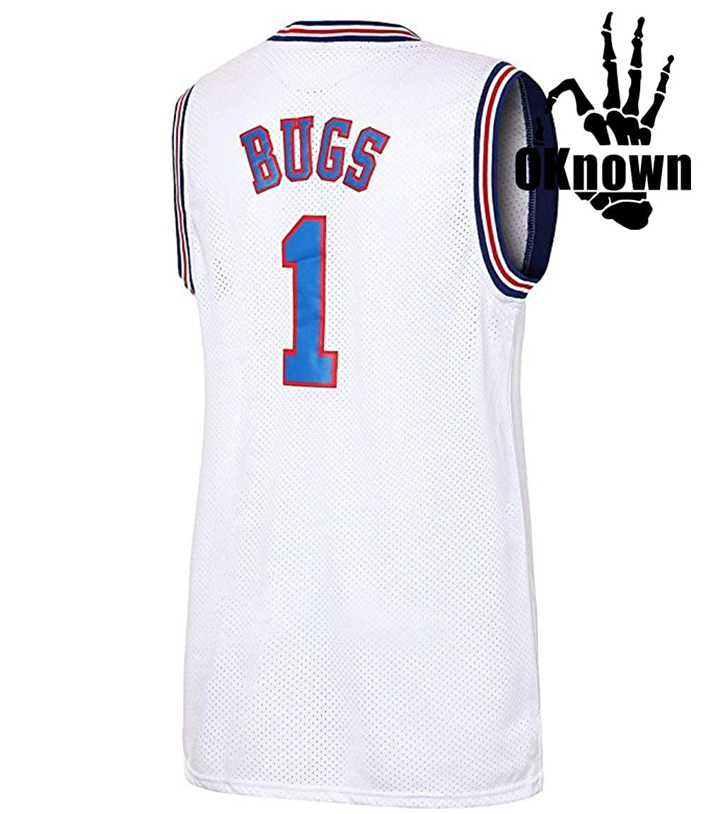Basketball Jersey Bugs 1 Space Jam Shirt Bunny Costume Tune Squad Jersey Basketball Jerseys for Men OKnown
